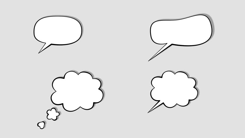 white babble. Illustration of thought or speech bubble. Alpha channel.