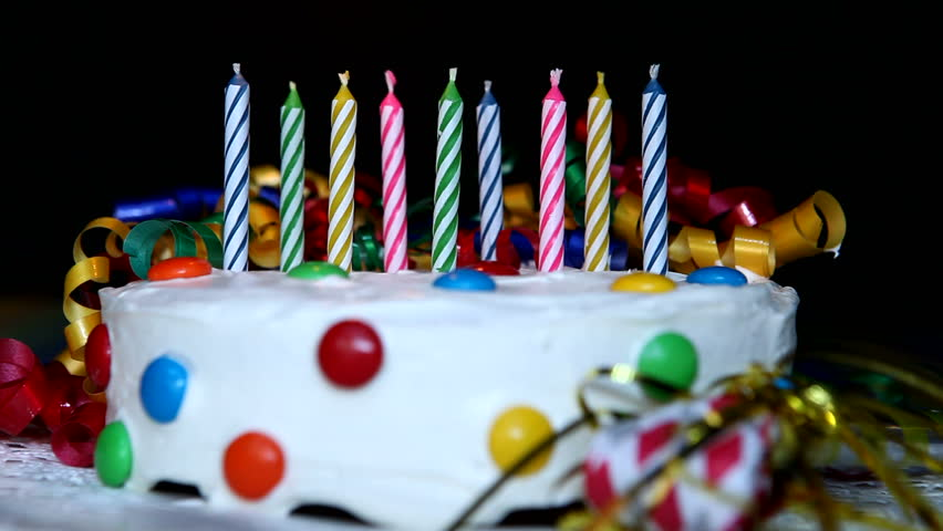 Birthday Candles On Cake Being Stock Footage Video 100 Royalty
