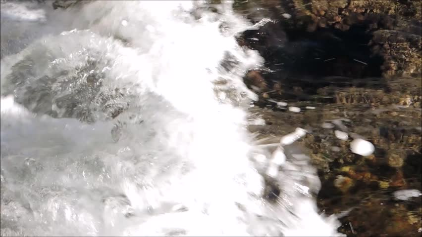 Ocean waves with bubble on the coast. | Shutterstock HD Video #30232132