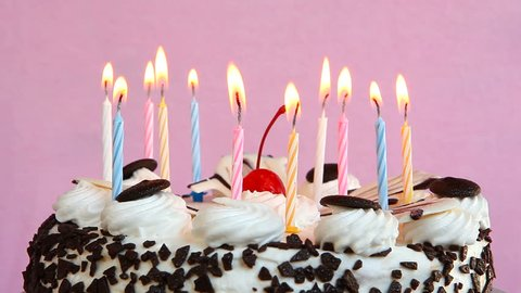 Cool Happy Birthday Cake With Candles Stock Footage Video 100 Royalty Personalised Birthday Cards Paralily Jamesorg