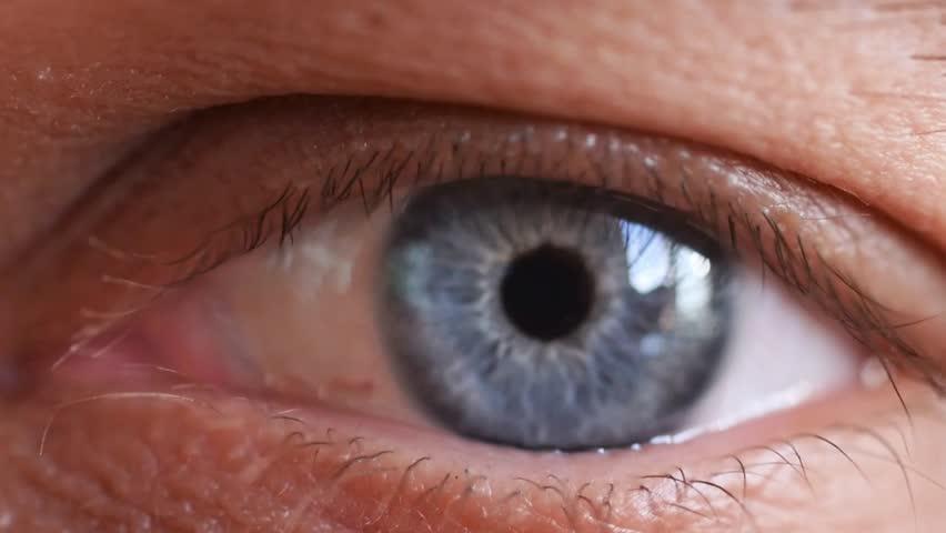 Macro shot of beautiful male human blue eye in slow motion. 1920x1080   Shutterstock HD Video #30262486
