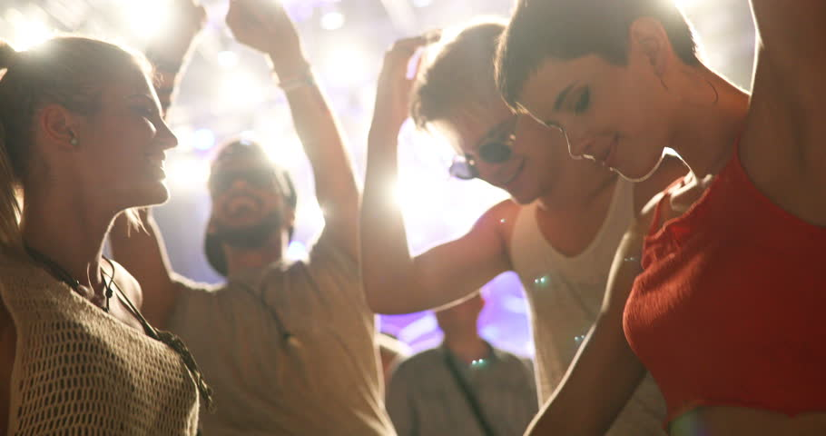 People clubbing and dancing at party | Shutterstock HD Video #30264289