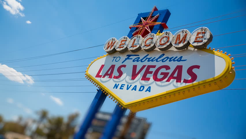 Las Vegas Welcome Sign Angled Right Side. an angled view of the famous Las Vegas welcome sign  | Shutterstock HD Video #30281824