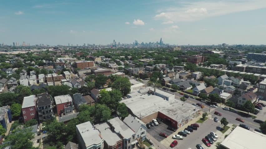Chicago Summer West Side Aerial    Shutterstock HD Video #30287557