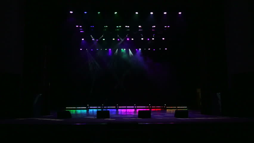 Bright beautiful rays of light on an empty stage before the concert. #30291037