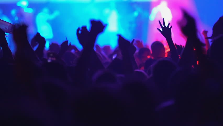 Slow motion concert crowd dancing at life music concert | Shutterstock HD Video #30303823