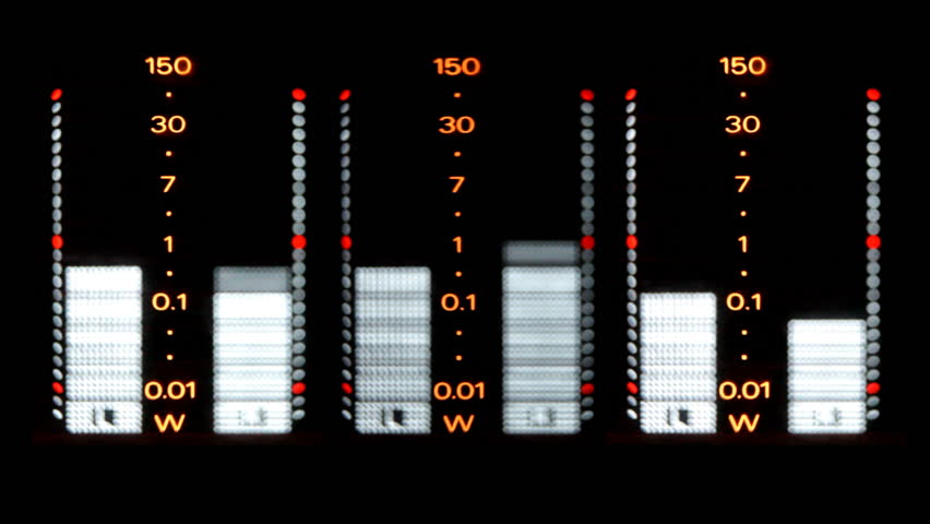 close up of the graphics on a hifi stereo