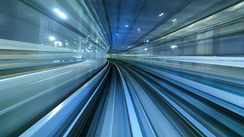 4K Time lapse of automatic train moving to tunnel, Tokyo, Japan  | Shutterstock HD Video #30321817