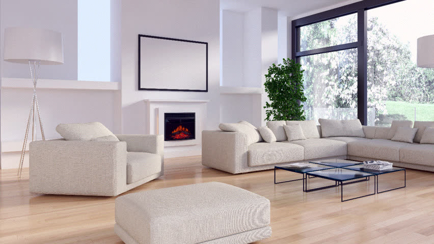 Modern bright interiors. 3D rendering illustration   Shutterstock HD Video #30324238