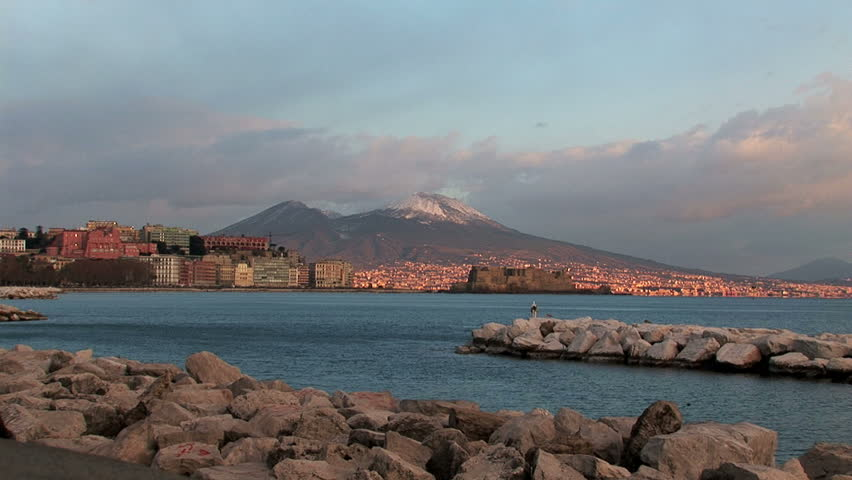Naples, view from Mergellina and zoom out