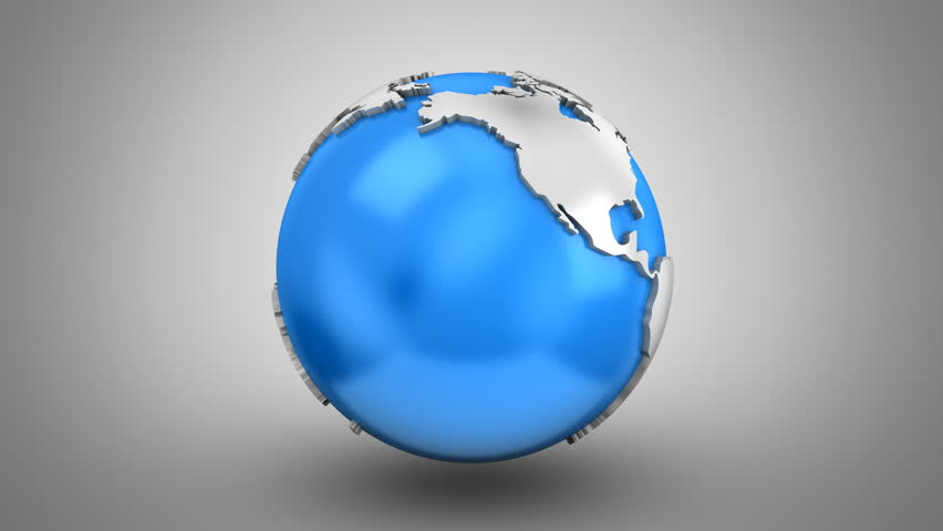 Rotating of Earth. Gray background, 2 in 1, loop, created in 4K, alpha matte, 3d animation | Shutterstock HD Video #30367261