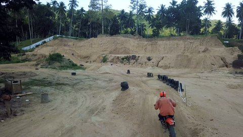 Motocross Riding Aerial View