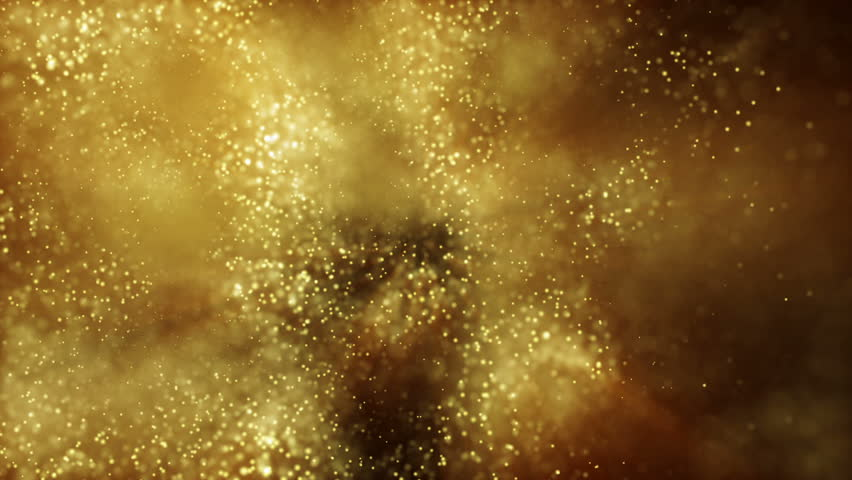 Background gold movement. Universe gold dust with stars on black background. Motion abstract of particles. VJ Seamless loop.Scale. | Shutterstock HD Video #30409903