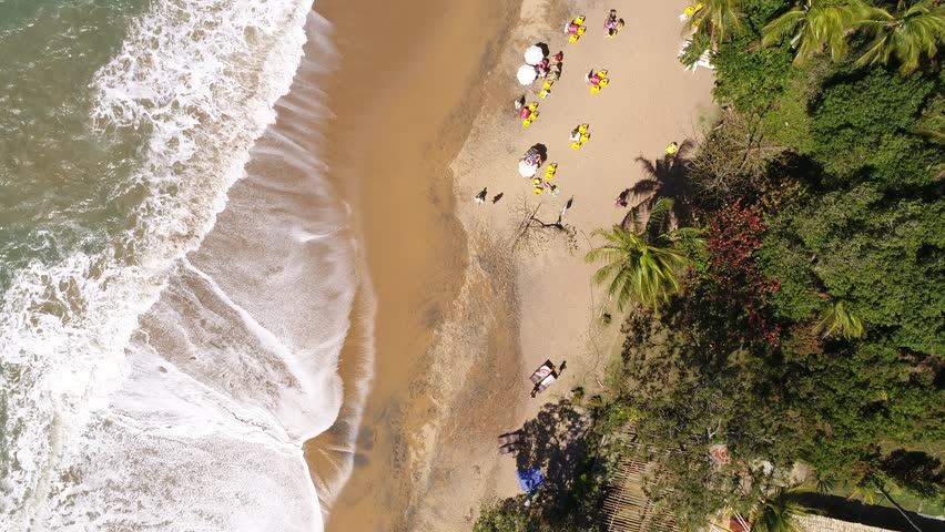 Top View of Jabaquara Beach in Ilhabela, Brazil #30426889