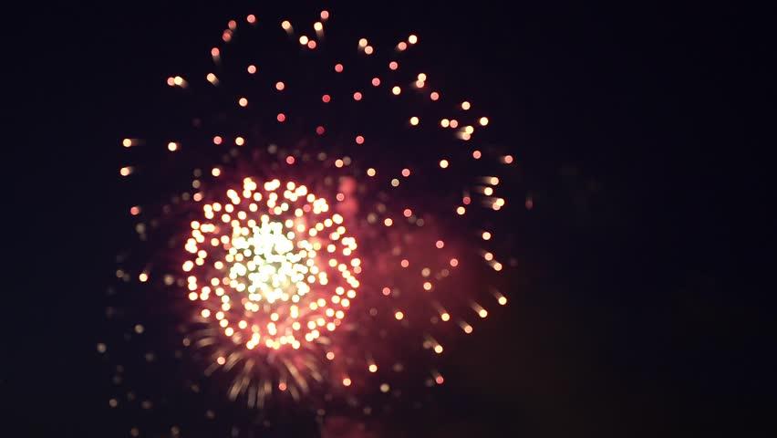 Beautiful colorful firework at night sky | Shutterstock HD Video #30428764