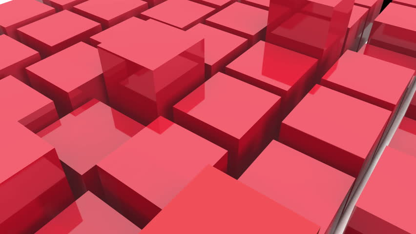4k tech blockchain data background,abstract 3d red metal cubes animation.cg_3977_4k #30434797