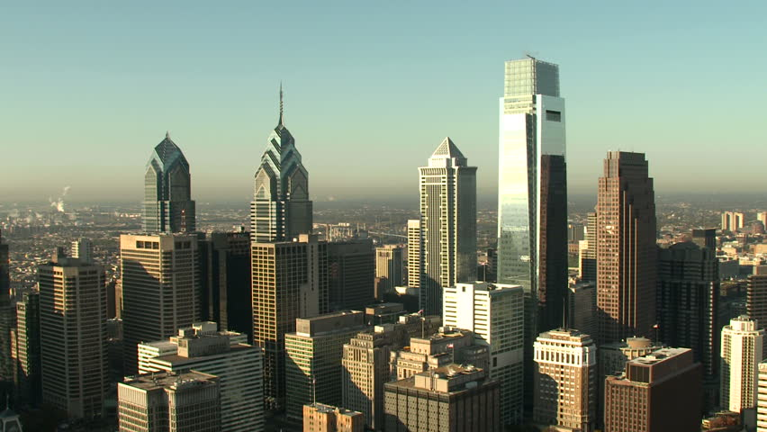 Aerial shot of Philadelphia | Shutterstock HD Video #3045241