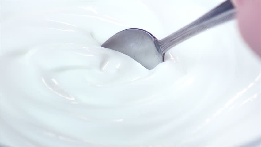 High quality video of scooping yogurt in real 1080p slow motion 250fps #30462061