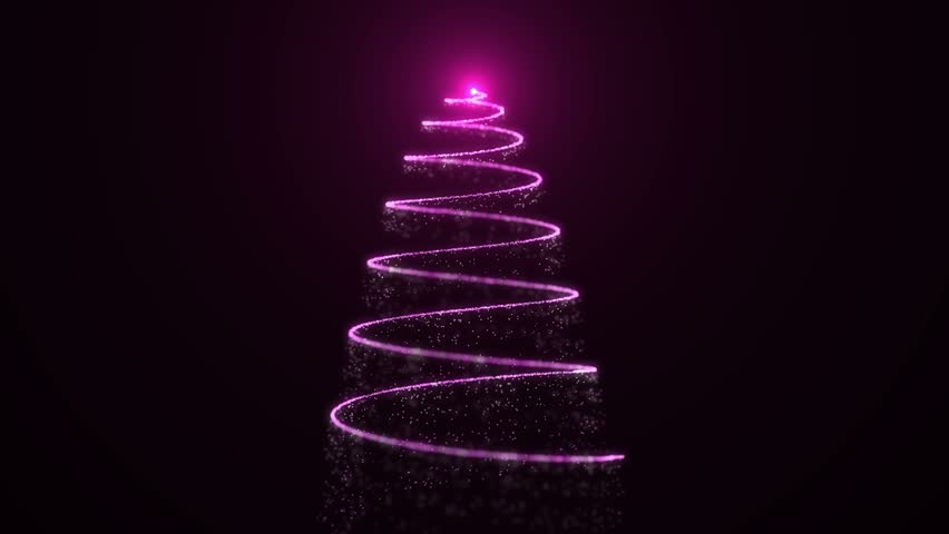 Abstract Festive christmas tree made of light appearing pink | Shutterstock HD Video #30463339