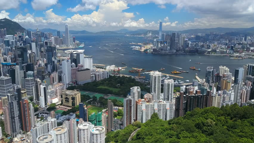 4k aerial video of Victoria Harbour in Hong Kong   Shutterstock HD Video #30464500