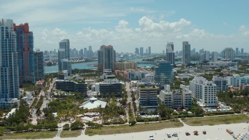 Aerial of South Beach, Miami Beach, FL