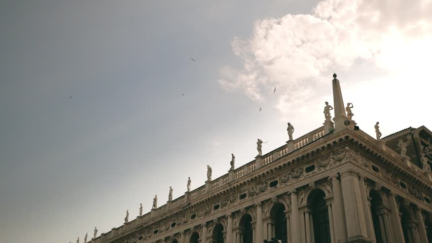 Slow motion flying birds at Saint Mark's Square. Venice, Italy. | Shutterstock HD Video #30539833