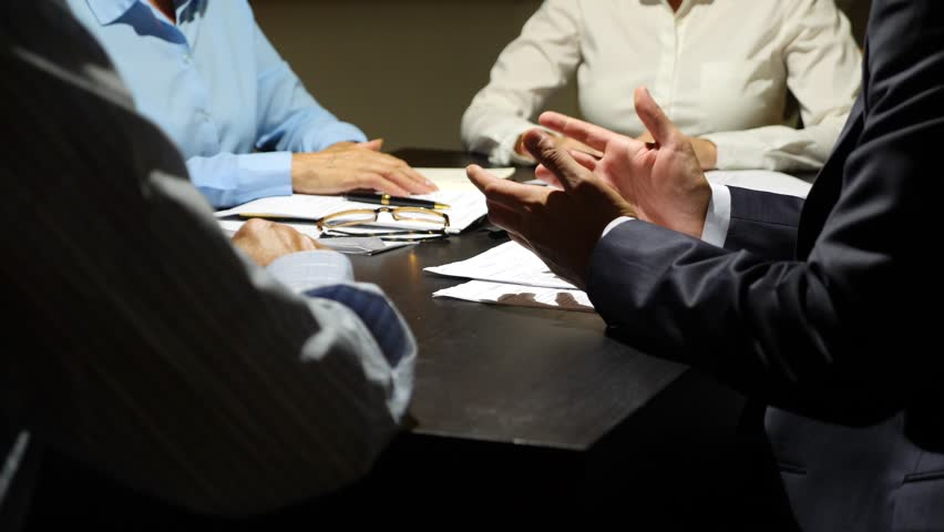 body language. Gesticulation of hands during negotiations. business concept. 4k, slow-motion. #30563386