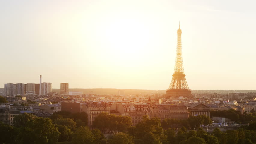 High quality video of aerial view on Eiffel Tower in Paris in 4k slow motion 60fps | Shutterstock HD Video #30567331