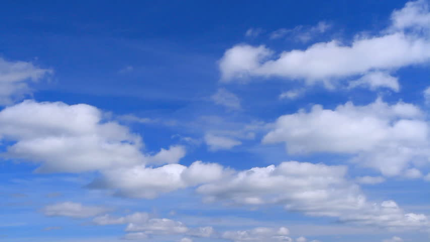 White clouds flying on blue sky. Time lapse. #3057979