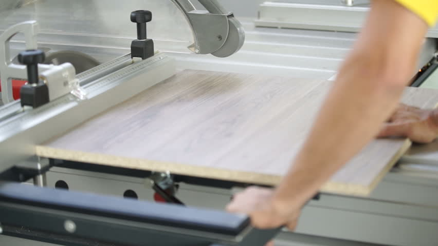 Furniture Production Wizard Cuts The Wood Element | Shutterstock HD Video #30593002