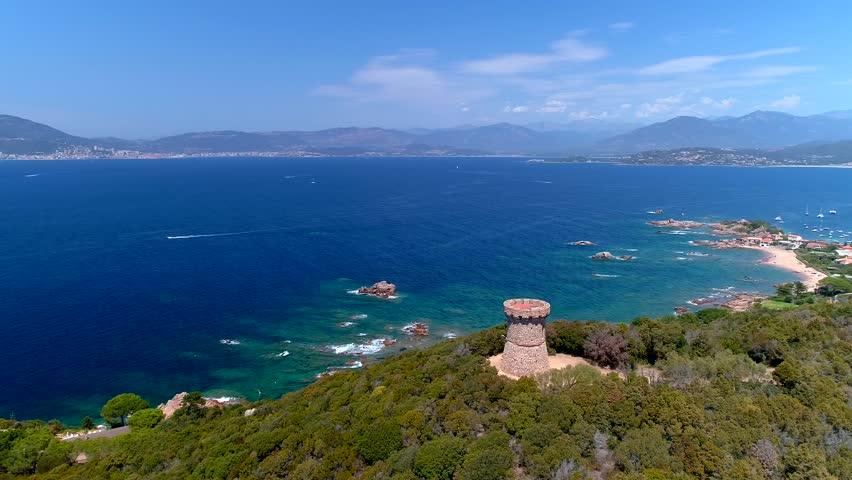 Panorama on Ajaccio - Corsica