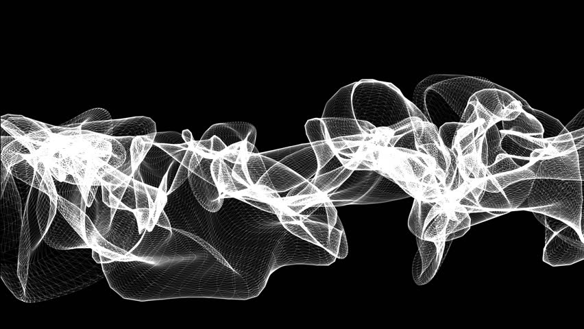 A black and white lines that morphs and deform | Shutterstock HD Video #3067657