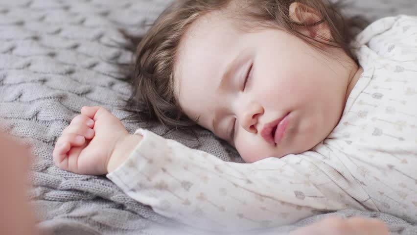 Cute Baby Girl Sleeping On Stock Footage Video 100 Royalty Free 30679651 Shutterstock