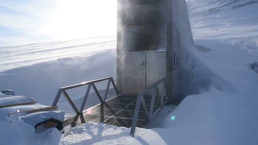 Global seed vault in Longyearbyen. Svalbard, Norway