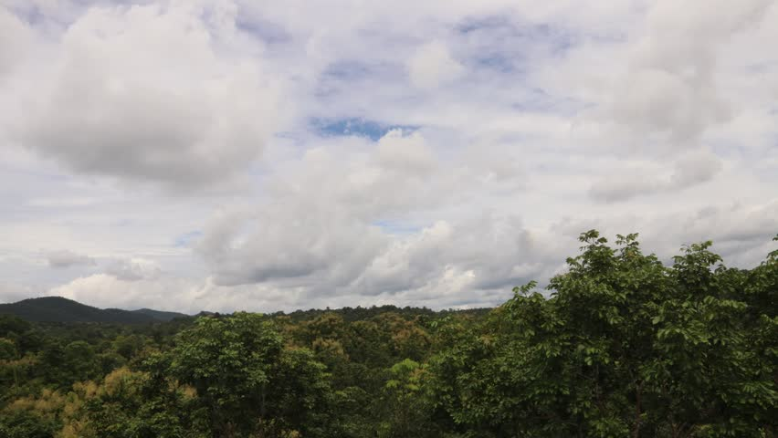 Beautiful nature and cloudy time lapse