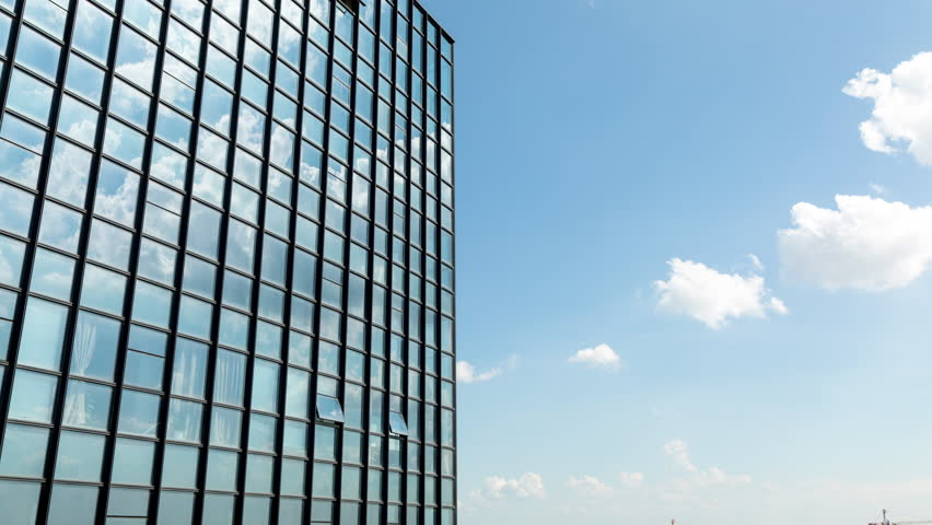 Glass Curtain Wall Reflection of Stock Footage Video (100% Royalty-free)  30689806   Shutterstock