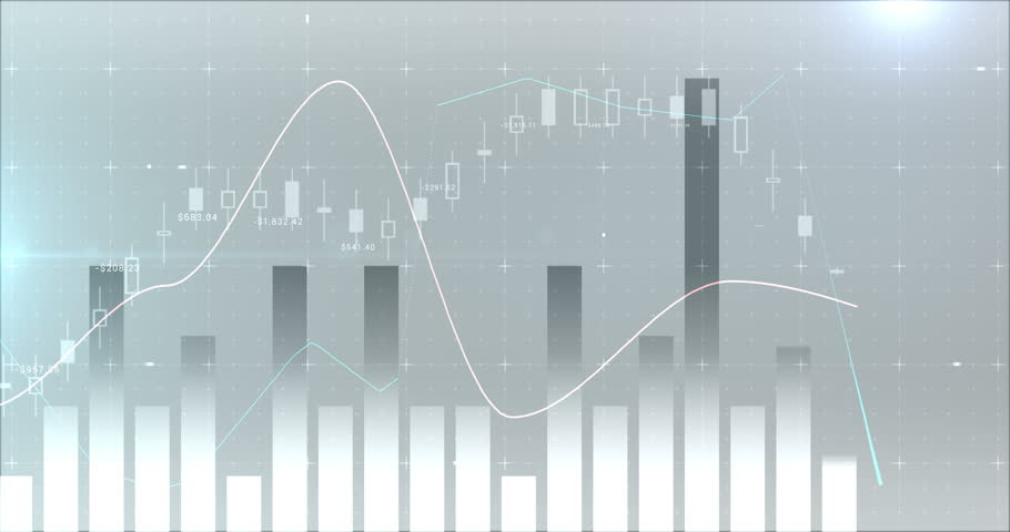 Digital composite of various financial charts 4k #30694888