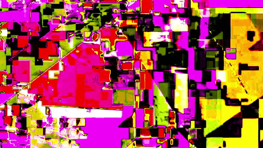 Glitch Datamosh Noise Colored Geometrical Distorted Animation Background | Shutterstock HD Video #30827131