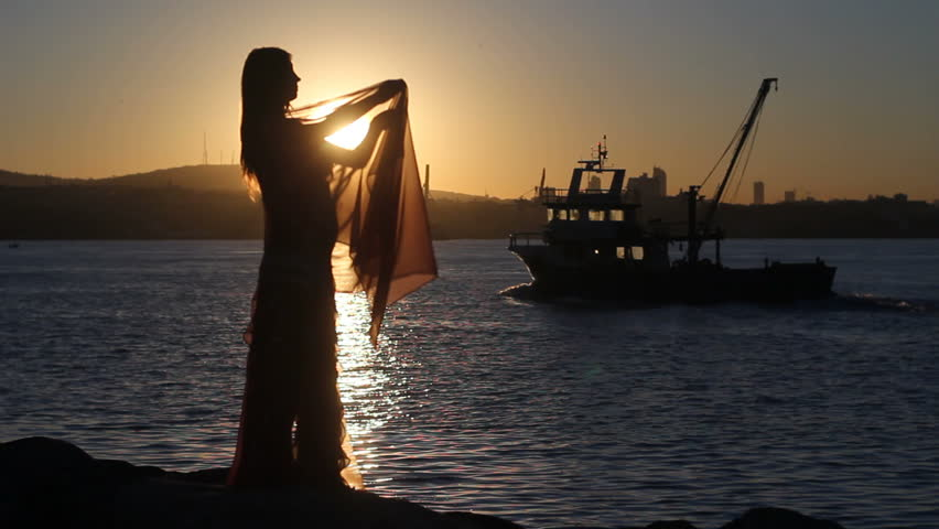 Dance and sunset, silhouette | Shutterstock HD Video #3083815