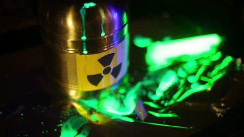 Nuclear waste leaking