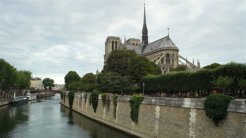View of Notre Dame de Paris from the Seine river | Shutterstock HD Video #30867859