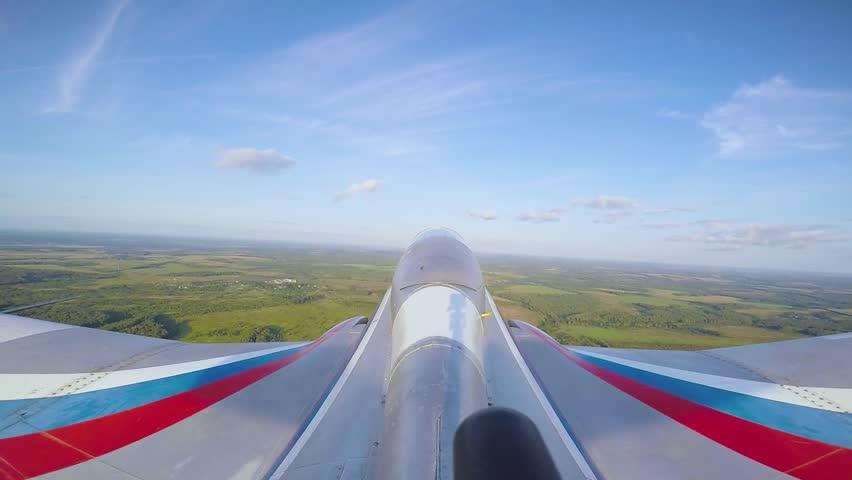Tail camera on jet airplain