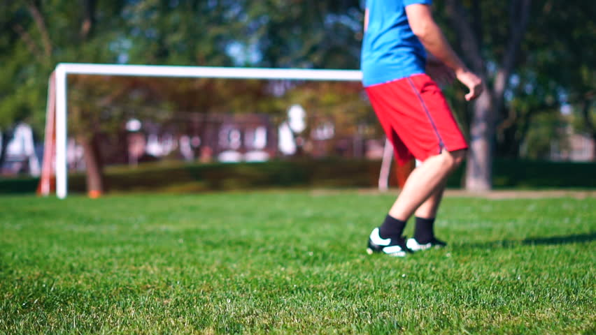 MONTREAL, CANADA - SEPTEMBER 2017: (Slow Motion) Soccer Practice Exercise Habits Routine Persistence & Fun - Sunny Summer Day Outside   Shutterstock HD Video #30870370