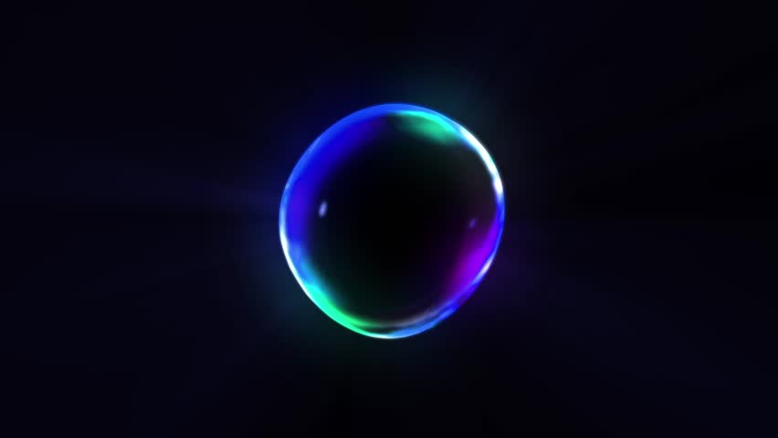 Rainbow bubbles on a dark background, Loop, | Shutterstock HD Video #30882115