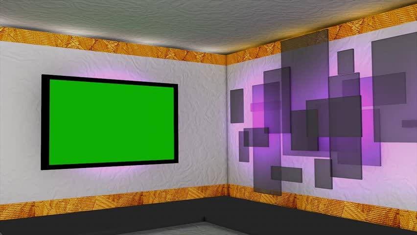 Virtual studio, 2 camera view point.