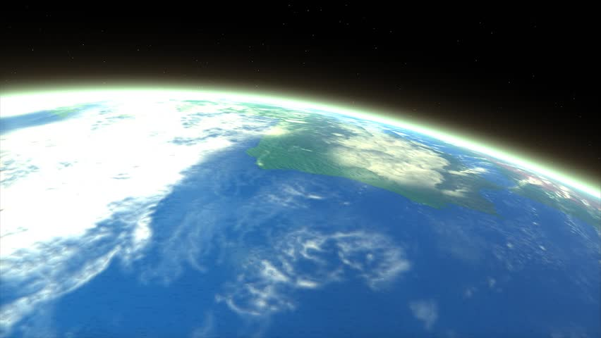 Artist rendering meteor entering earth atmosphere