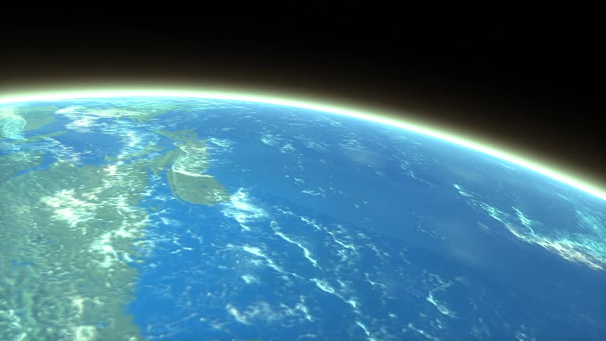Artist rendering meteor entering earth atmosphere
