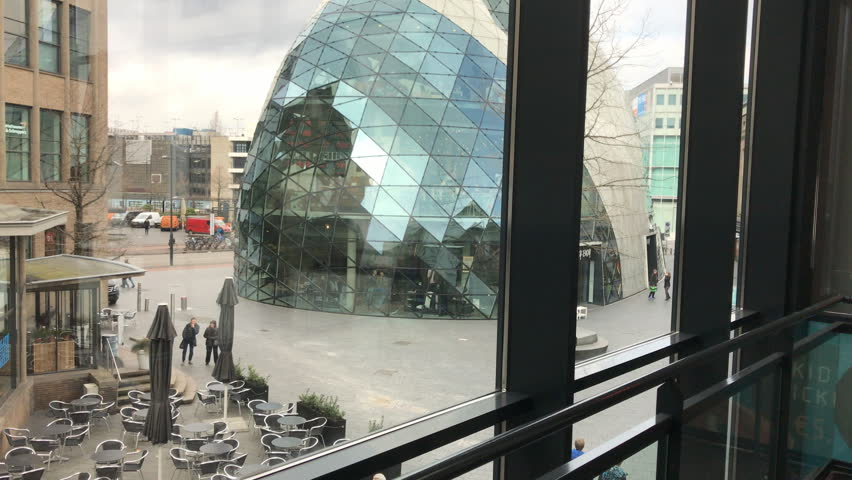 A view from the VUE cinema hall in the city center,Eindhoven, Holland March 2, 2017