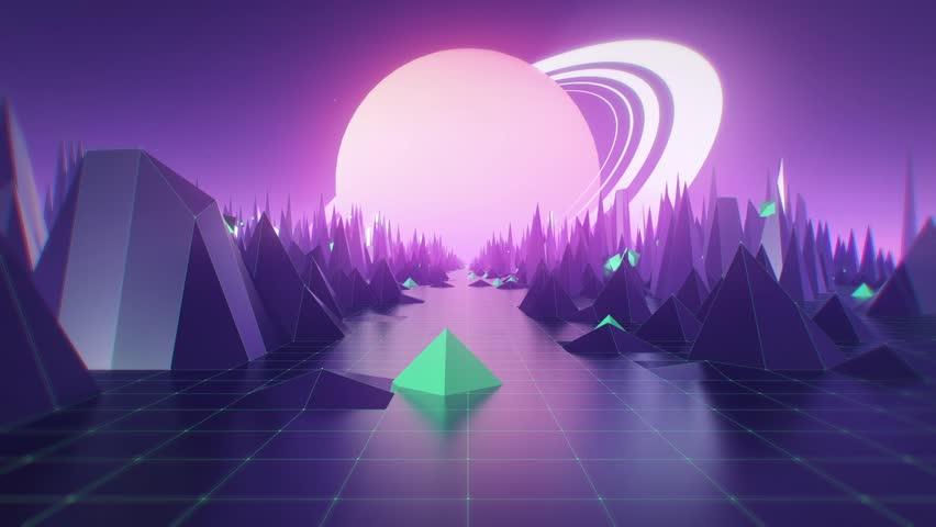 VJ Loop. 3D Planet