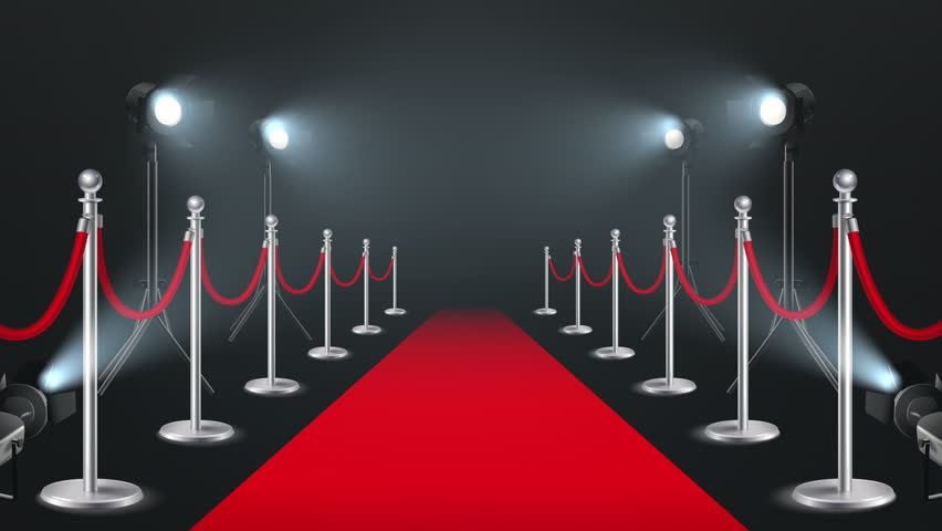 Red Ceremonial Carpet With Lights Stock Footage Video 100 Royalty Free 30927631 Shutterstock